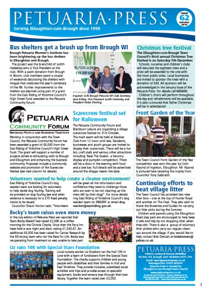 Petuaria Press issue 62 front page