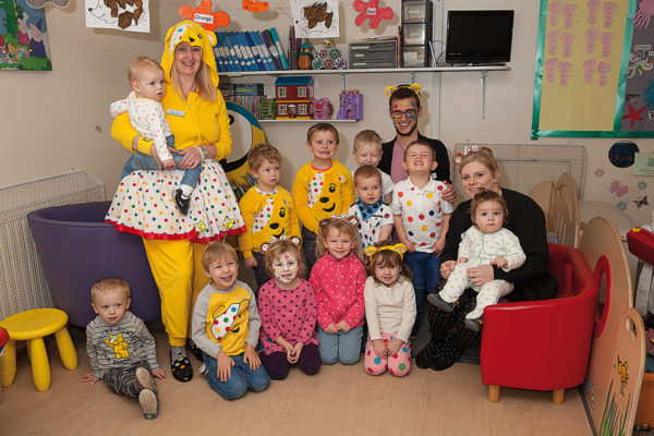 Children and staff from Elloughton Private Nursery