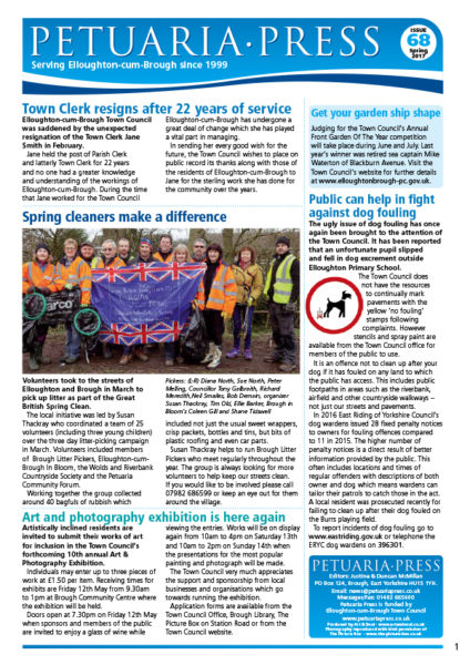 Petuaria Press issue 68 front page