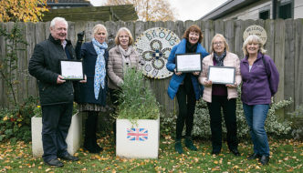 Brough In Bloom team with 2019 Gold Award for Best Town