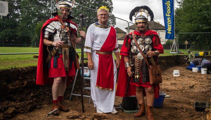 Roman renactors and Martin Credland of Petuaria Revisited