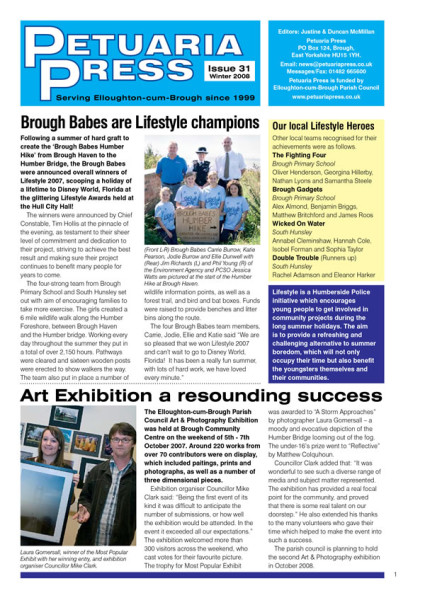 Petuaria Press issue 31 front page