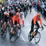 Tour de Yorkshire peloton rides through Brough, East Yorkshire
