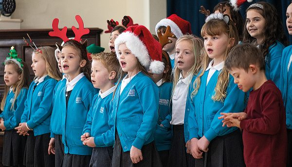 South Hunsley Primary School Choir at the Elloughton-cu- Brough Christmas Tree Festival